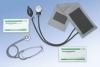 Máy đo huyết áp, tai nghe, nhiệt kế, găng tay