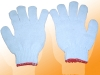 Găng tay len sợi màu kem