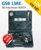 Bộ máy khoan Bosch GSB 13RE hộp nhựa 104 chi tiết