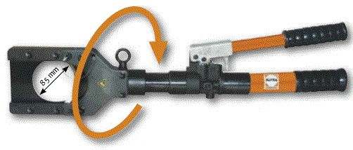 Hydraulic hand cable cutter