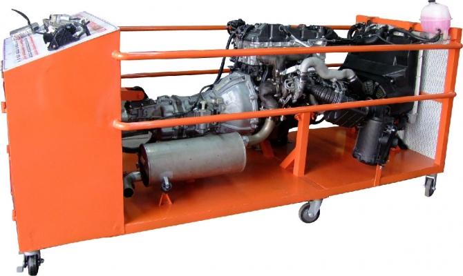 Mô hình động cơ diesel toyota common rail diesel  điều khiển điện tử.